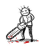 Tueur psychopathe illustration stock