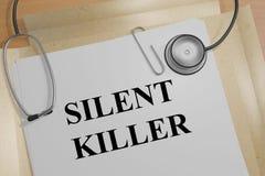 Tueur silencieux - concept médical illustration libre de droits