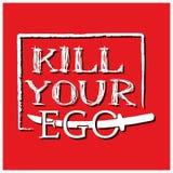 Tuez votre amour-propre avec la conception de vecteur d'épée sur le fond rouge illustration de vecteur
