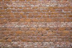 Tufa And Brick Wall In Rome. Antic Tufa And Bricks Wall In Rome Royalty Free Stock Photos