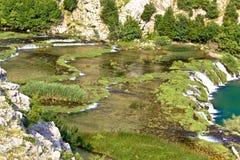 Tufa cascades of Krupa river Stock Photography