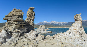 Tufa Formation in Mono Lake, California Royalty Free Stock Photo