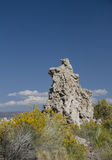 Tufa formation near the Mono Lake Royalty Free Stock Photos
