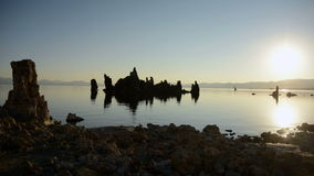 Tufa Formation on Scenic Mono Lake California at Sunrise - Time Lapse -  4K -  4096x2304 stock footage
