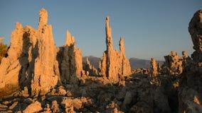 Tufa Formation on Scenic Mono Lake California at Sunrise stock footage