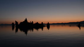 Tufa Formation on Scenic Mono Lake California at Sunrise stock video