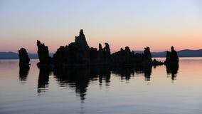 Tufa Formation on Scenic Mono Lake California at Sunset - Time Lapse    -  4K. Tufa Tower on Mono Lake stock footage