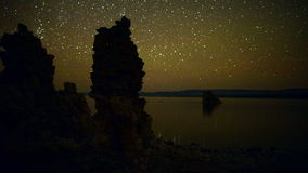 Tufa Formation on Scenic Mono Lake California at Sunset - Time Lapse    -  4K stock video footage
