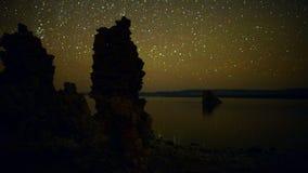 Tufa Formation on Scenic Mono Lake California at Sunset - Time Lapse    -  4K. Tufa Tower on Mono Lake stock video footage