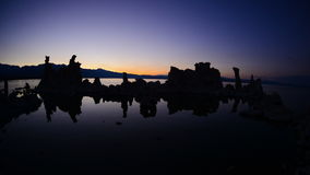 Tufa Formation on Scenic Mono Lake California at Sunset - Time Lapse -  4K -  4096x2304 stock video