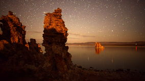 Tufa Formation on Scenic Mono Lake California at Sunset - Time Lapse -  4K -  4096x2304 stock video footage