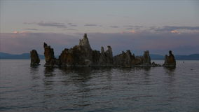 Tufa Formation on Scenic Mono Lake California at Sunset - Time Lapse stock footage