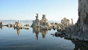 Tufa Formation on Scenic Mono Lake California stock footage