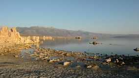 Tufa Formation on Scenic Mono Lake California stock video footage