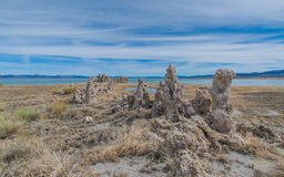 Tufa Formations in Mono Basin Stock Image