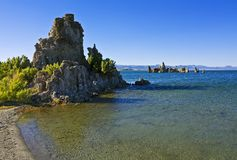 Tufa formations at Mono Lake Royalty Free Stock Photography