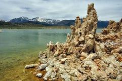 Tufa formations in Mono Lake, California Royalty Free Stock Photos