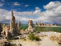 Tufa Formations, Mono Lake, California, USA. Mono Lake and Tufa Formations, State Natural Reserve. California, USA Stock Images