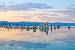 Tufa Formations at Mono Lake outside of Yosemite National Park Royalty Free Stock Image