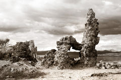 Tufa formations near Mono lake Royalty Free Stock Image