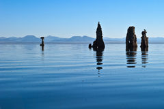 Tufa at Mono Lake. Outside of Yosemite, CA, from a kayak Stock Photo
