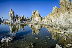 Tufa, mono lake, CA Royalty Free Stock Images