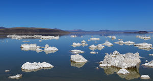 Tufa. At Mono Lake in California's eastern Sierra, rocky structures called 'tufa' form when minerals precipitate from the alkaline water Stock Image