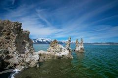 Tufa in Mono Lake Morning Stock Images