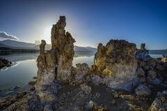 Tufa mono sjö Royaltyfri Fotografi
