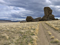 Tufa on the Pyramid Lake Indian Reservation. Tufa mounds in the ancient Winnemucca Lake basin Stock Photos
