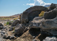 Tufa rock at Pyramid Lake, Nevada Royalty Free Stock Photos