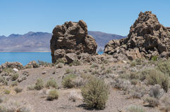 Tufa rock at Pyramid lake Royalty Free Stock Photo