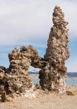 Tufa in the salty waters of Mono Lake in California Royalty Free Stock Image
