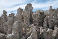 Tufa in the salty waters of Mono Lake in California Royalty Free Stock Images