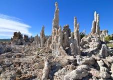 Tufa spires rising out of Mono Lake. California, USA Royalty Free Stock Photos