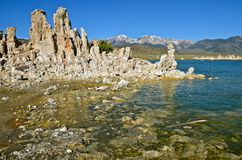 Tufa spires rising out of Mono Lake Royalty Free Stock Photo