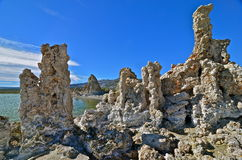 Tufa spires rising out of Mono Lake Royalty Free Stock Photos