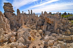 Tufa spires rising out of Mono Lake Stock Photos