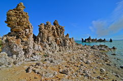 Tufa spires rising out of Mono Lake Stock Images
