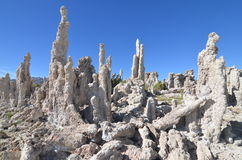 Tufa spires rising out of Mono Lake, California. USA Royalty Free Stock Photo
