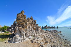 Tufa spires rising out of Mono Lake, California Royalty Free Stock Photo
