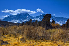 Tufa Towers and the Sierras Stock Photos