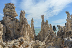 Tufa Vorming in Monomeer, Californië Royalty-vrije Stock Fotografie