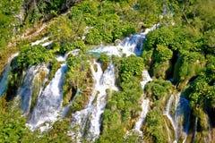 Tufa waterfalls of Plitvice lakes national park Royalty Free Stock Images
