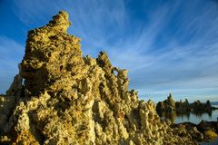 Tufas at Mono Lake with Reflection Stock Photography
