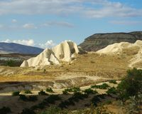 Tuff formations in Cappadocia Stock Photography