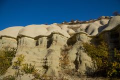 Cappadocia tuff formations landscape Royalty Free Stock Images