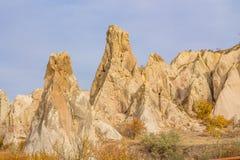 Cappadocia tuff formations landscape Royalty Free Stock Photography