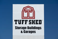 Tuff Shed Storage Building Sign and Logo. LOS ANGELES, CA/USA - JULY 11, 2015: Tuff Shed storage building sign and logo. Tuff Shed Incorporated is a manufacturer Royalty Free Stock Image