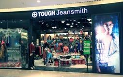 Tuffa Jeansmith shoppar i Hong Kong Royaltyfri Bild